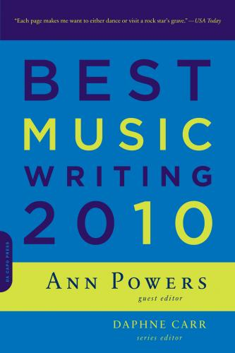 Cover of Best Music Writing 2010